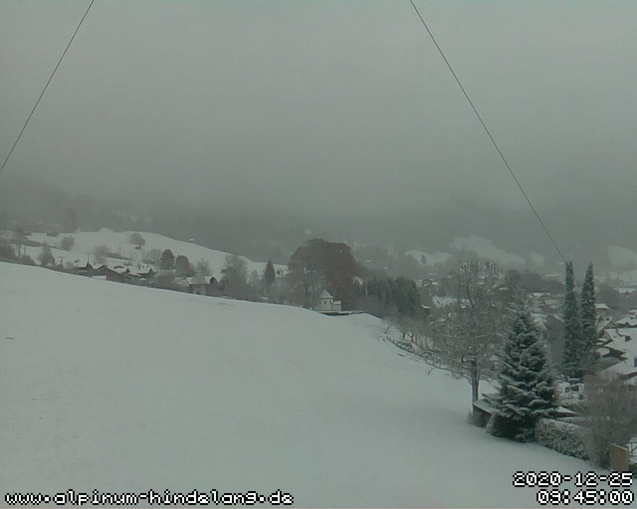Bad Hindelang Live Video Blick über Hindelang vom Grundstück nach Osten Richtung Oberjoch und Isler.